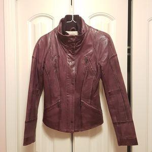 Purple Danier Leather Jacket